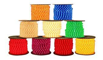 American Lighting RL-AM-150 1-Reel 825-watt 120V Incandescent Rope Light Reels, Dimmable, 150-Feet, Amber