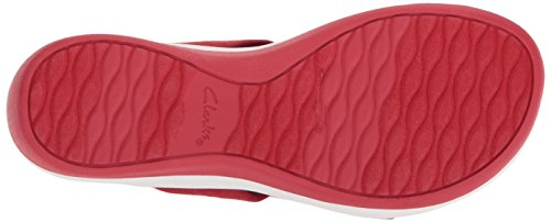 Fabric Clarks Primrose Heathered Medium 8 5 Red Women's Arla Us Sandal APwqOYA