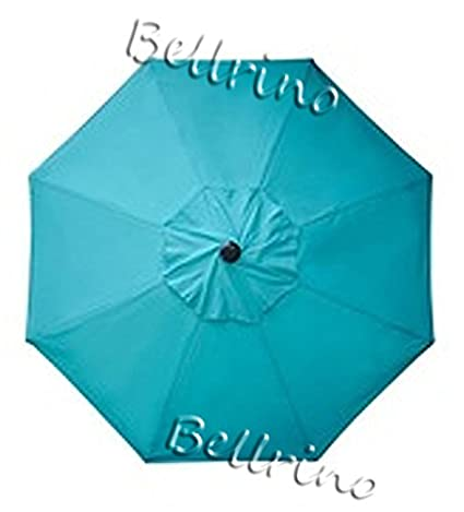 "Bellrino Decor Replacement Lake Blue "" Strong & Thick "" Umbrella Canopy For 9ft 8 Ribs Lake Blue (Canopy Only) by Bellrino Decor"