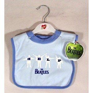 The Beatles Help Baby Bib ~ Blue (Bib Beatles)