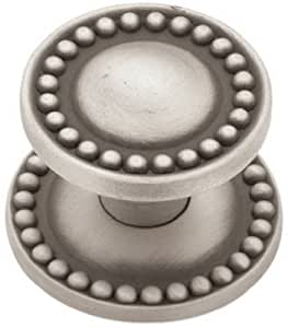 Liberty Hardware PBF800Y-BSP-CP Brushed Satin Pewter, Beaded Knob