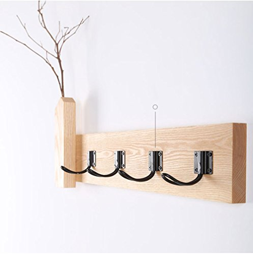 Japanese style hanging hanger / bedroom living room solid wood coat rack / wall hanging / hanging hook / wood decoration hook / ( Size : 56.510cm ) by Hook up (Image #3)