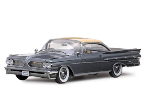 1959 Pontiac Bonneville Hard Top Grey/Cameo Ivory/Silvermist Gray Metallic 1/18 Platinum ()