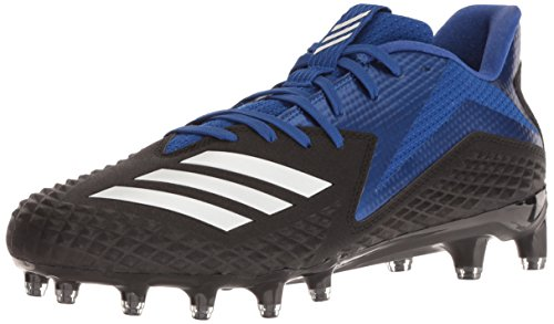 adidas Men's Freak X Carbon Mid Football Shoe, Black/White/Collegiate Royal, 10.5 M US