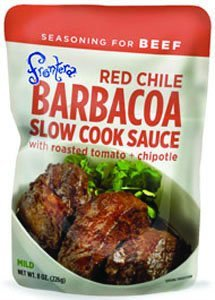 Frontera Red Chile Barbacoa Slow Cook Sauce with Roasted Tomato + Chipotle 8 oz (Pack of 3) (Frontera Roasted Tomatoes)