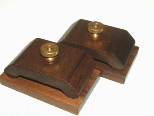 1 Pair Mini Walnut Hang-Ups Quilt Clamps Clips - Small -