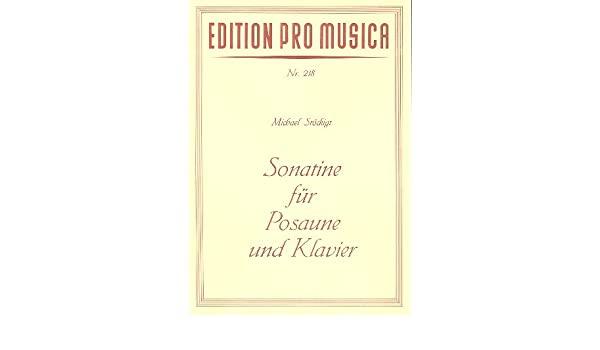Sonatine: para trombón y Piano: Michael Stöckigt: Amazon.es: Instrumentos musicales