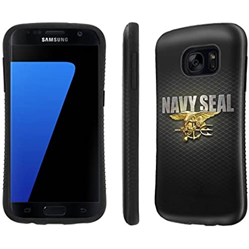 Galaxy [S7] Tough Designer Case [SlickCandy] [Black Bumper] Ultra Shock Absorbent - [Navy Seal ] for Samsung Galaxy S7 / GS7 Sales
