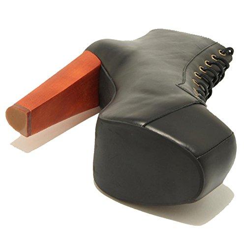 0932G stivaletto stringato nero JEFFREY CAMPBELL LITA scarpa stivale donna boots [41]