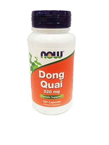 NOW Dong Quai 520mg, 100 Capsules (Pack of 3)