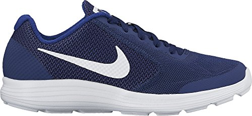 NIKE Boys' Revolution 3 (GS) Running-Shoes, Binary Blue/White/Deep Royal Blue, 7 M US Big Kid (Awesome Shoes For Boys)