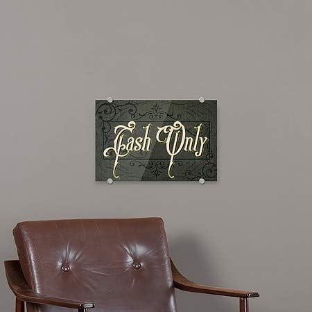 CGSignLab 36x24 Victorian Frame Premium Acrylic Sign Cash Only