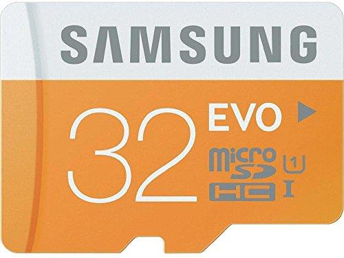 Samsung MicroSDHC 32GB EVO UHS-I Grade 1 Class 10 Speicherkarte, für Smartphones und Tablets, mit SD Adapter [Amazon frustfreie Verpackung]