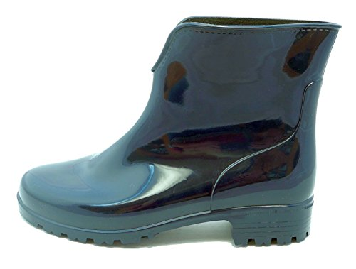 Ladies Stormwells Blue Wellington Shiny 8 Womens Boots Sizes Wellies Ankle 3 ZqSdqwx