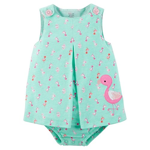 Carter's Just One You Baby Girls Sunsuit (3 Months, Pink/Green)