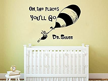 Amazon.com: Dr Seuss Wall Decal Quote Vinyl Sticker Decals Quotes Oh ...