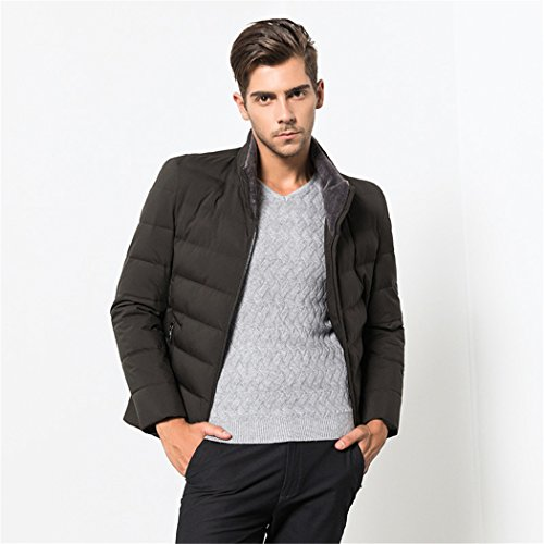casual color HHY business padded Men's 185 men warm jacket thickening Olive winter ZOOvxEUqw
