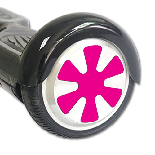 MightySkins Protective Vinyl Skin Decal for Hover Balance Board Scooter Wheels mini board unicycle bluetooth wrap cover sticker Solid Hot Pink Mini Scooter Hover Board