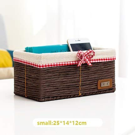 - Storage Baskets - Straw Storage Basket Imitation Rattan Fabric Tabletop Snack Square Key Finishing Box Weaving Frame - Jute Narrow Or Wall Household Seagrass Teal Under Rope Xxxl