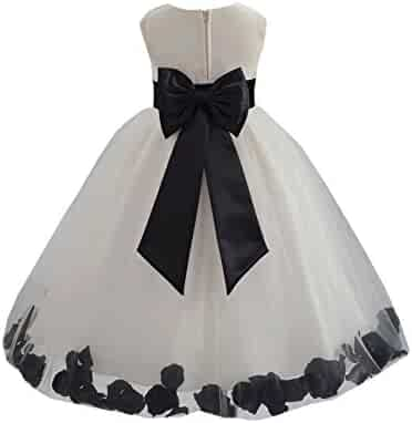 e908525b813 ekidsbridal Wedding Pageant Rose Flower Petals Tulle Ivory Flower Girl Dress  Toddler Recital 302T