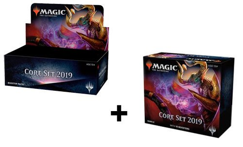 MTG Magic the Gathering Core 2019 Booster Box + Bundle