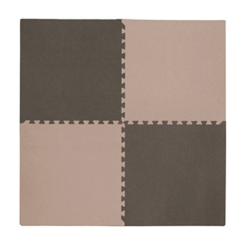 Tadpoles 4 Piece Playmat Set, Taupe Brown
