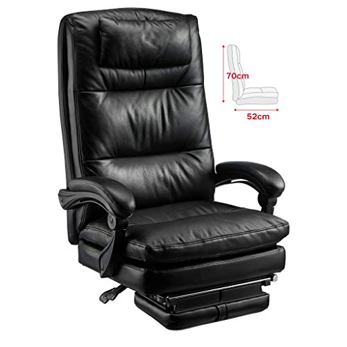 Aoyo stolar kohud chef stol svängbar stol, hem datorstol vilstol företagskläder verkställande stol kontorsstol, dubbel vadderad chef stol