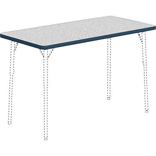 - Lorell 99916 Classroom Rectangular Activity Tabletop Table Top, Gray Nebula,High Pressure Laminate (HPL),Navy