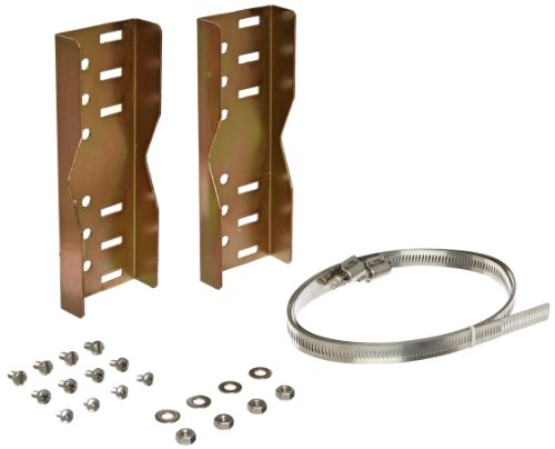 (BUD Industries BPM-22260 Steel Pole Mount Bracket Kit for Electronics)