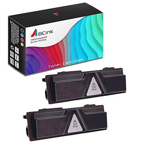 ABCink Compatible Toner Cartridge Replacements for Kyocera TK-142,for use in Kyocera FS-1100,4000 Yields(2 Pack,Black)