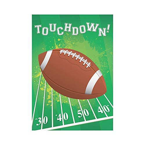 Pingshoes American Football Touchdown Polyester Garden Flag Outdoor Banner 12 x 18 inch, Unique USA Sport Ball Filed Decorative Large House Flags for Party Yard Home Decor