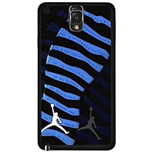 "Black and Blue Designer Shoe ""10's Retro Powder Blue"" Foot Print Hard Snap on Phone Case (Note 3 III)"