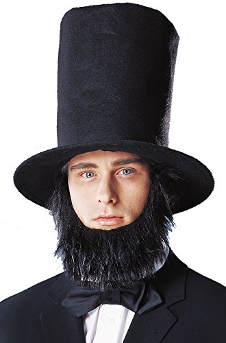 Abraham Lincoln Costume Hat With Beard - Lincoln Hat With Beard