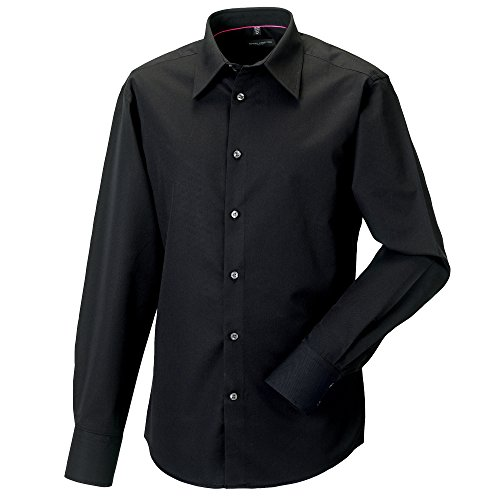 Russell Collection Mens Long Sleeve Tencel Easy Care Fitted Shirt (3XL (Collar 18.5-19