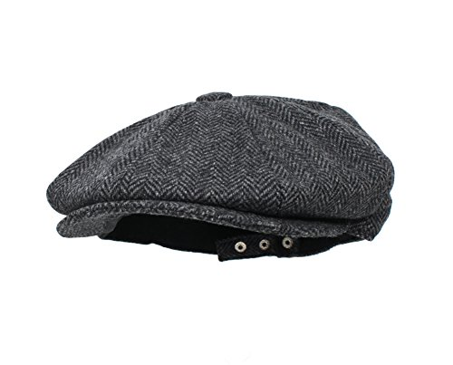 Unisex 8-Panel Newsboy Snap Front Hat Adjustable (1920's Costumes Pinterest)