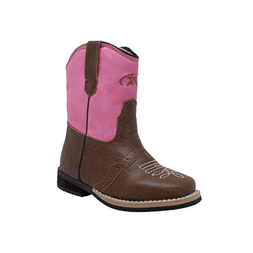 (AdTec Girls' 5579 Western Boot Pink 7 M US Toddler)