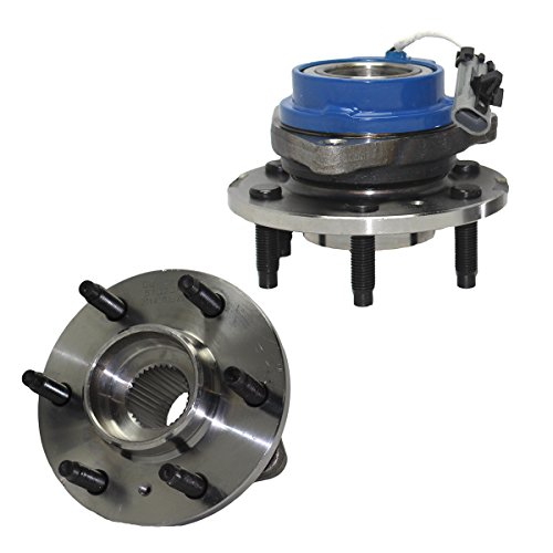 Detroit Axle - Pair Front Wheel Hub and Bearing Assembly- 6 Lug W/ABS (Pair) fits 2006-2007 Buick Terraza - [2006-2009 Chevy Uplander] - 2006 Pontiac Montana SV6 - [2006-2007 Saturn Relay]