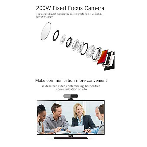 1080P Webcam with Microphone, Walfront USB 2.0 Desktop Laptop Computer Web Camera, Plug and Play, for Windows Mac OS, for Video Streaming, Conference, Online Classes (Black)