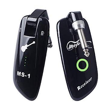 Sistema inalámbrico de guitarra MEFE Recargable Bajo Transmisor inalámbrico Receptor inalámbrico 99 canales: Amazon.es: Instrumentos musicales