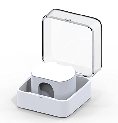 Ankola New Lot Portable Charger Charging Holder Dock Case Protective Cover Bag For Apple Watch (White) (Fittings Dock)