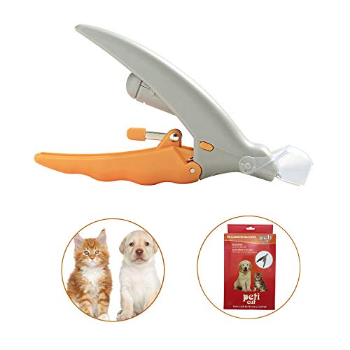 Updated Version - The Illuminated Pet Nail Clipper,LED Light Cleaning Beauty Clipper - Professional for Cats & Dogs