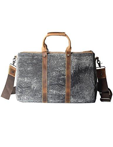 Menschwear Mens & Womens Cross-body Bag Hand Handle Bags shoulder Bag Travelling Bag Black-Grey