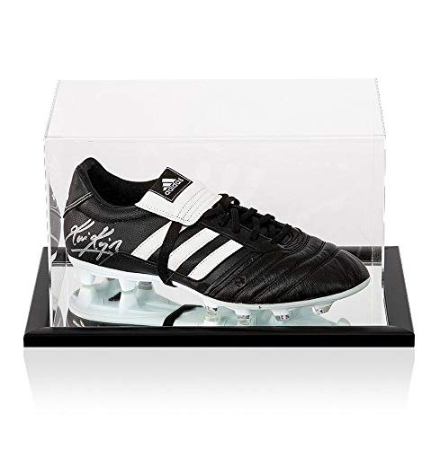 Kevin Keegan Signed Football Boot Adidas Gloro In Acrylic Case Autograph Autographed Soccer Cleats