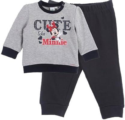 Chándal para niña, diseño de Minnie Mouse, color Gris/azul marino ...