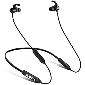 ef07d2b47a3 Wireless Headphones Xunpuls Bluetooth Earphones HD Mic Noise Cancelling  Stereo Noise Isolation 13-15 Hrs Dual Batteries Sweatproof IPX6 Headsets  Magnetic ...