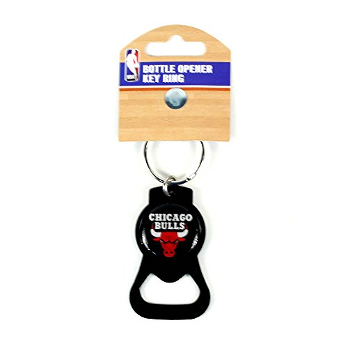 aminco NBA Chicago Bulls Blackout Series Bottle Opener Keychain