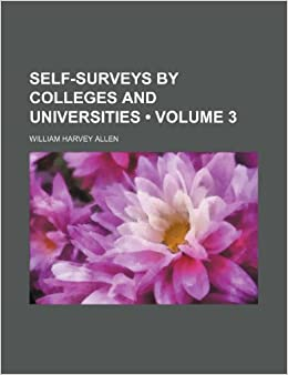 Book Self-Surveys by Colleges and Universities (Volume 3)