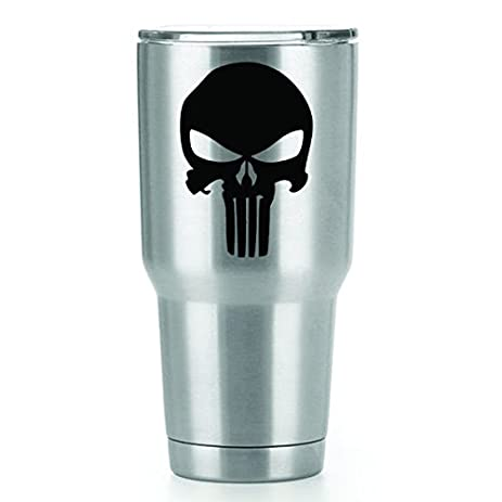 Punisher skull vinyl decals stickers 2 pack yeti tumbler cup