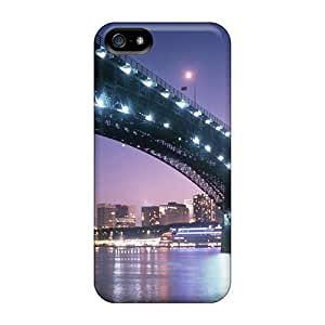 Tpu Richavans Shockproof Scratcheproof A Bridge At Night Into St Louis Hard Case Cover For Iphone 5/5s