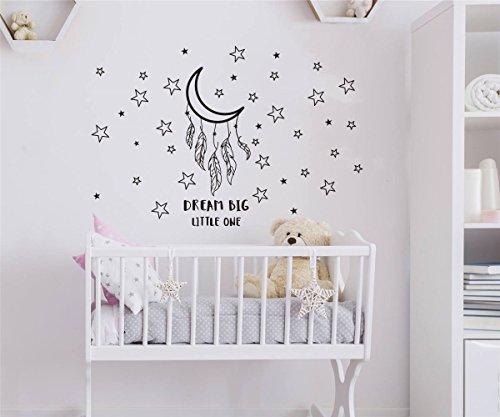 JOYRESIDE Dream Big Little One Night Sleep Wall Decal Vinyl